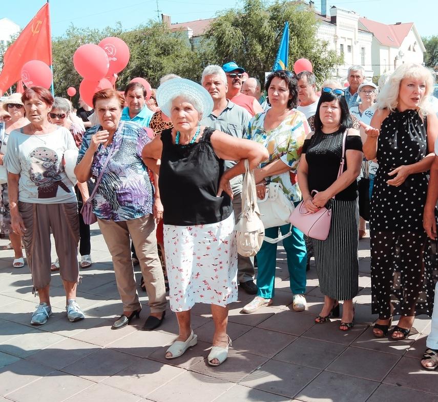 Митинг против повышения пенсионного возраста в Оренбурге