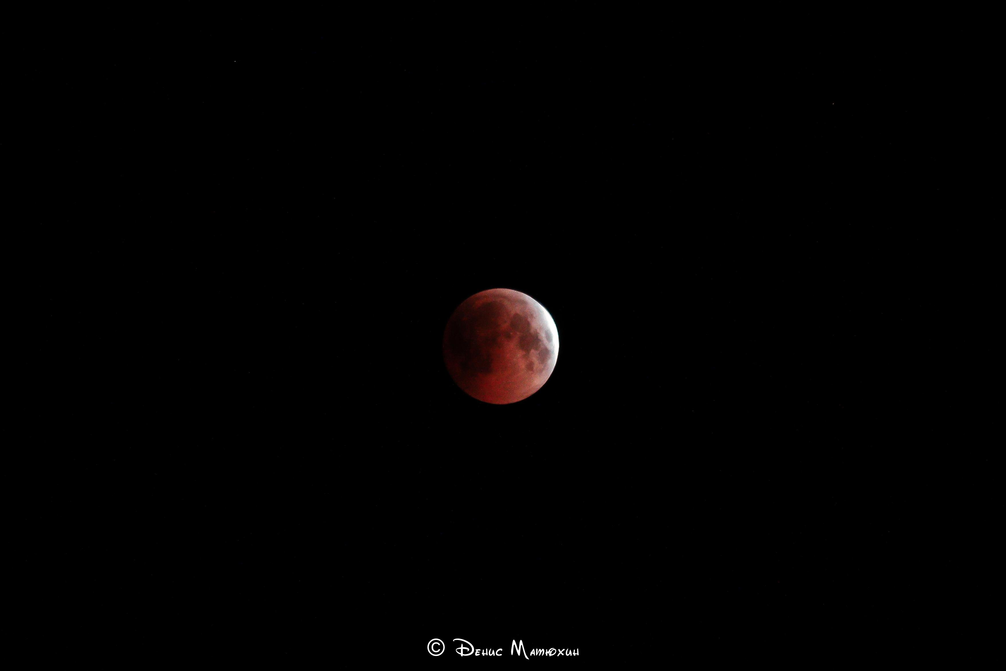 Самое длительное в 21 веке полное лунное затмение. 27 июля 2018 год.