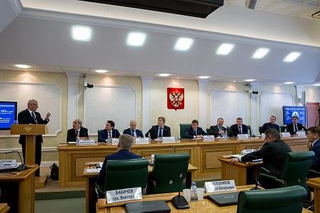 Юрий Берг на Совете Федерации