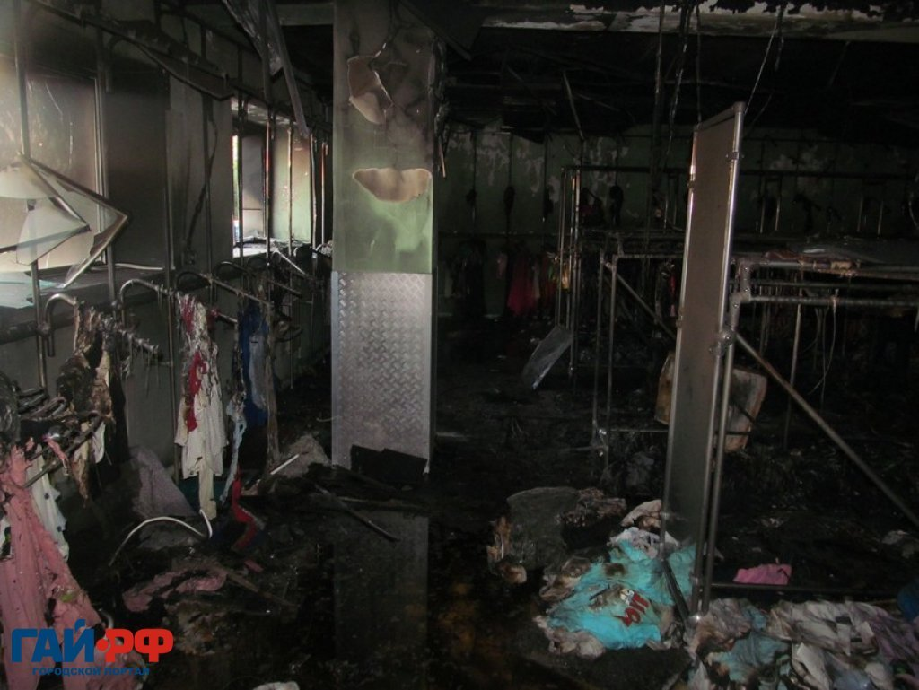 Сожгли магазин по заказу