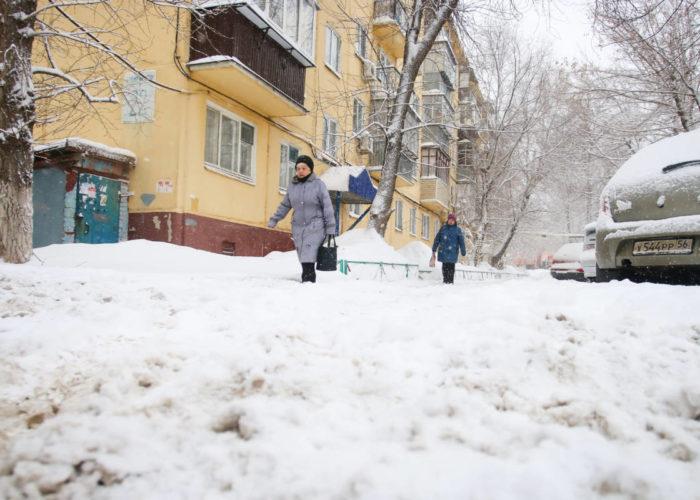 Уборка снега, снегопад