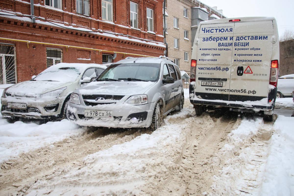 Последствия снегопада в Оренбурге