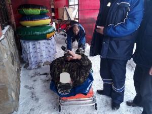 В Бузулуке спасли заваленного снегом мужчину