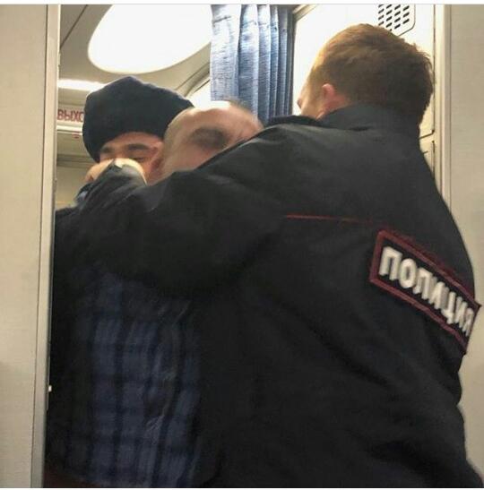 Дебошир с рейса «Оренбург-Москва» во всей «красе»