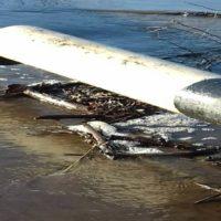 Поднявшаяся Орь затопила низководный мост около поселка Урпия под Орском